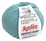 Katia Merino Baby Farbe 74 - Aqua, Merinowolle, Babywolle zum Stricken und...