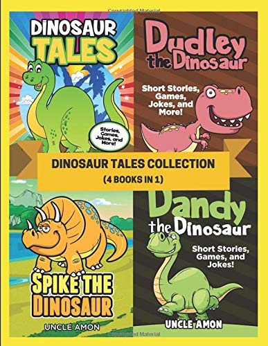 Dinosaur Tales Collection (4 Books in 1): 20 Short Stories, Fun Games, Hilarious Jokes for Kids, and More! (Fun Time Reader Bundle, Band 5)