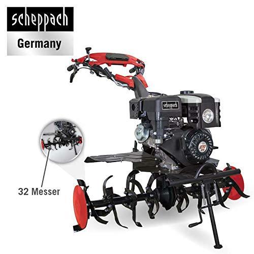 Scheppach Profi Benzin-Motorhacke MTP1100 7PS 110cm mit Pflug
