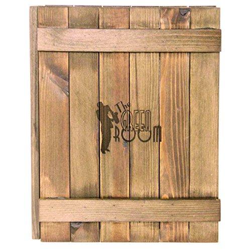 Holz Canterbury Menu, Helles Eichenholz-Finish, geeignet für A5Menükarten–Gravur, personalisiert mit Ihrem Text oder Logo
