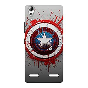 Stylish Blood Red Round Back Case Cover for Lenovo A6000 Plus
