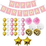 Belle Vous 33 Pcs Decoración Cumpleaños Set - Fuentes del Parti