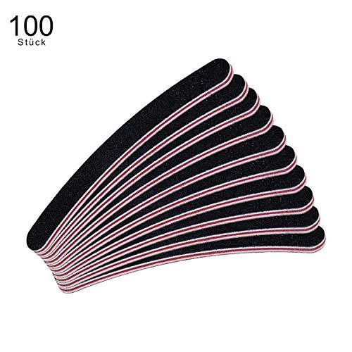 Set de 100 lîmes à ongles courbées - BLANCHES