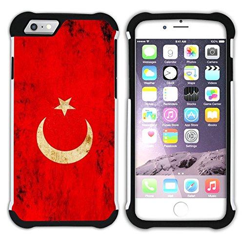 Graphic4You Vintage Uralt Flagge Von Turkey Türkisch Design Hart + Weiche Kratzfeste Hülle Case Schale Tasche Schutzhülle für Apple iPhone 6 Plus / 6S Plus Turkey Türkisch