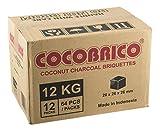 Cocobrico C2612kg Shisha carbón natural Gastro | Carbón de coco para pipa de agua | 26mm Cube