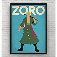 One piece Zoro Poster - Anime Wall Art Print Decor Manga Room Gift- Frame Not Included
