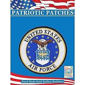 FindingKing U.S. Air Force Logo Patch &weiß, blau - 10.16 cm