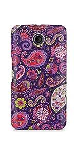 Casenation Purple Paisley Glossy Case Cover For Motorola Nexus 6