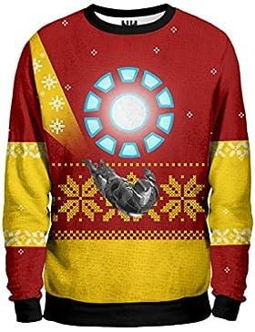 Noorhero - Felpa Uomo - Iron Man Christmas