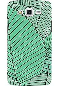 AMEZ designer printed 3d premium high quality back case cover for Samsung Galaxy Grand Max (green leaf pattern )