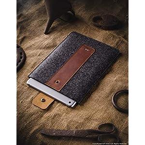 iPad Pro 11 Zoll Leder- und Wollfilz Hülle/Etui   Classic Brown, Stifthalter, Vintage Italian vegetable gegerbt Crazy Horse Style Leder und German 100% Wollfilz Tablettenbezug, Crazy Horse Craft