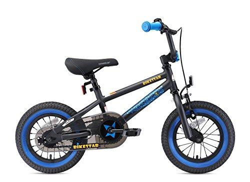 BIKESTAR Bicicletta Bambini 3-4 Anni da 12 Pollici ★ Bici per Bambino et Bambina BMX con Freno a retropedale et Freno a Mano ★ Nero & Blu - 3