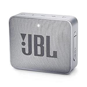 JBL Go 2 Portable Waterproof Bluetooth Speaker with mic (Ash Grey)