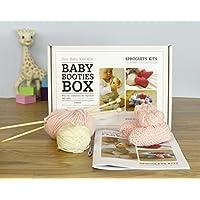 Baby maglia–Kit per bebè, colore: rosa, taglie 0–3e 3–6mesi, con istruzioni imparare a lavorare a maglia–100% pura lana merino