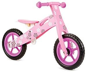 Nicko NIC856 - Bicicleta de Equilibrio Infantil con Flores Rosas