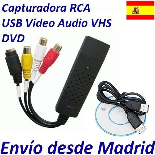 Adaptador USB Capturadora Video Audio TV PSP PS3 XBOX 360 Captura Juego Grabar