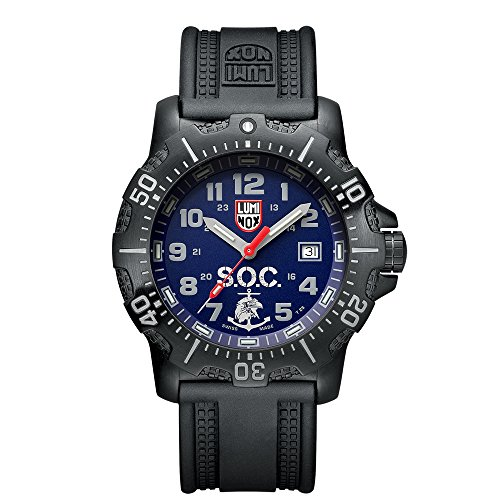Luminox LSOC Luminox Spec Ops Challenge Set ANU Men's Quartz watch with Blue dial featuring LLT Luminox light Technology 45 millimeters Stainless Steel case and Black PU Strap  XS.4223.SOC.SET