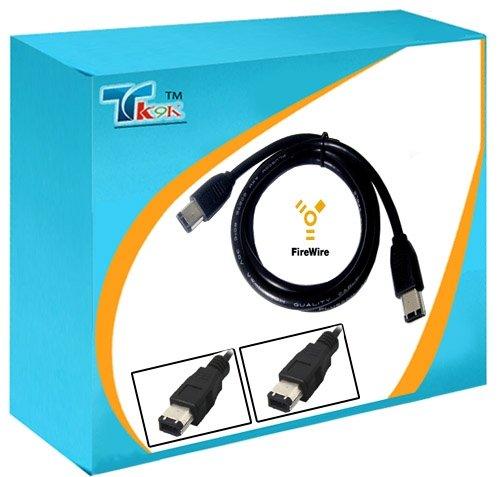 3 m Câble FireWire IEEE 1394 6 broches vers 6 broches/6 broches Noir, connecter un disque dur externe à un PC., DV FireWire