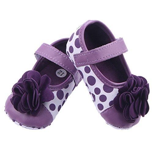 La vogue Baby Mädchen Blume Lauflernschuhe Krabbelschuhe Violett