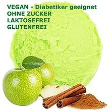 1 kg de crema sabor a manzana canela en polvo de hielo vegana - Azúcar -