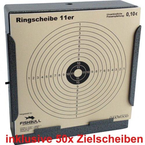 Kugelfang 14x14cm Stellen Aufhängen inkl. 50 Zielscheiben Kugelfangkasten des Herstellers FISHBULL Qualitätswerkzeuge