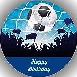 Fondant Tortenaufleger Tortenbild Geburtstag Fussball T23