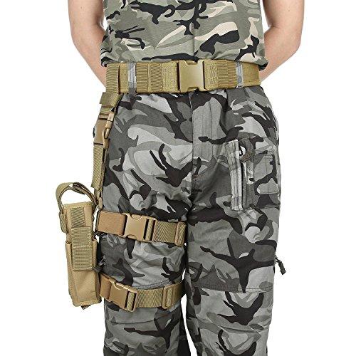 niceEshop(TM) Taktischer Gürtel Drop Leg Gun Holster (Kostüm Gun Holster Gürtel)