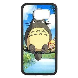 Ghibli Mon Neighbo Samsung Galaxy S6 étui de téléphone cellulaire coque coque de boîtier noir de couverture de téléphone portable EEECBCAAJ72530