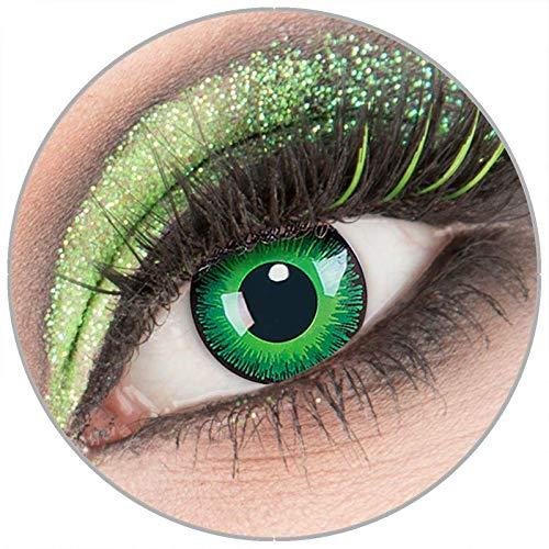 Farbige weiße \'Shining\' Kontaktlinsen ohne Stärke 1 Paar Crazy Fun Kontaktlinsen mit Behälter zu Fasching Karneval Halloween - Topqualität von \'Giftauge\'
