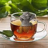 HelpCuisine® teesieb teeei teefilter Tea Infuser teekugel, Modernes Design, Niedliches Faultier aus hochwertigem Silikon 100% BPA frei, in der originalen Verpackung. (1St. Grau) Test