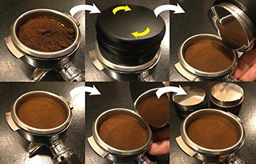 Scarlet Espresso portafiltros de Aufsatz 58,5/mm para extracci/ón perfecto durante cafeteras plata