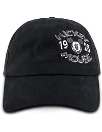 Disney Parks Mickey Mouse  1928   Logo Gorra de béisbol Adulto Negro 378a4660519d