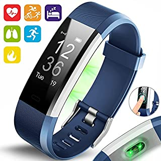 Aquarius AQ125HR Touch Screen Fitness Activity Tracker Sports HRM Watch Blue
