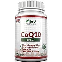 CoQ10 da 100 mg, 120 Capsule di Coenzima Q10 - Integratori alimentari Nu U Nutrition