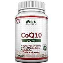COENZIMA Q10 - 100 mg - 120 Comprimidos - Complemento alimenticio de Nu U Nutrition