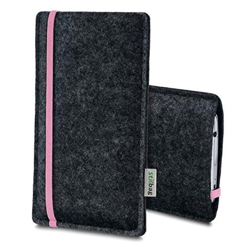 Stilbag Filztasche 'LEON' für Apple iPhone 5c - Farbe: pink-anthrazit rosa