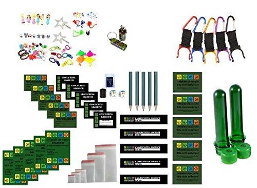 61 Teile Großes Refill Set - Logbücher und Aufkleber - Wartungsset Maintenance Kit Geocaching Petling Logbücher Filmdosen Micro Nano, cache container, cache versteck, Nano-cache