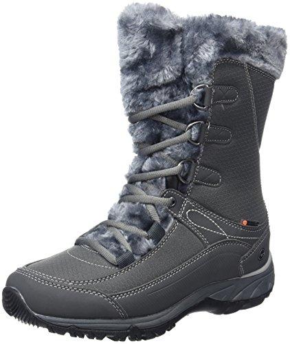 Hi-Tec Damen Equilibrio St Bijou Mid 200 I Waterproof Trekking- & Wanderstiefel, Grau (Charcoal), 39 EU (Womens Snow Boots Clearance)
