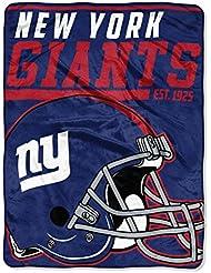 NFL New York Giants 36,6m Dash Micro Couvre-lit Motif, 116,8x 152,4cm, Bleu Royal