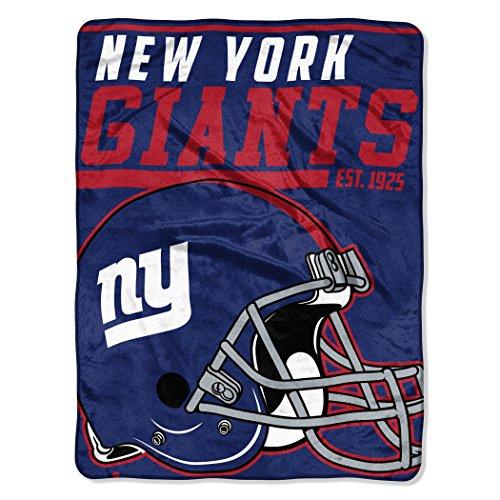 The Northwest Company NFL New York Giants 40-Yard Dash Micro Raschel Überwurf Plüschdecke 117 x 152 cm , Königsblau