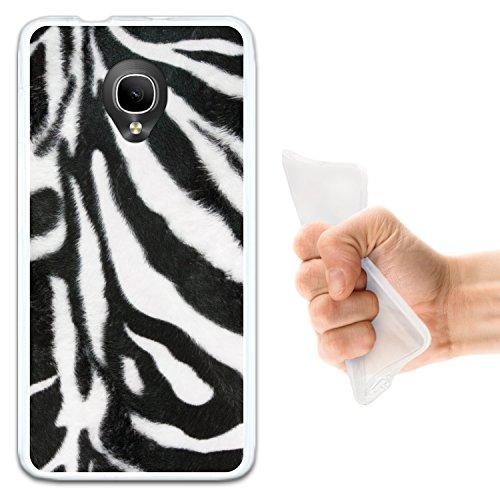 WoowCase Alcatel OneTouch Pop Up Hülle, Handyhülle Silikon für [ Alcatel OneTouch Pop Up ] Tier Zebradruck Handytasche Handy Cover Case Schutzhülle Flexible TPU - Transparent