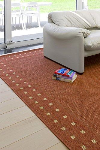 F & S PARIS alfombra moderna Flat Weave en aspecto de Sisal para sala de estar, dormitorio, pasillo, oficina, balcón y patio. Para uso INTERIOR y EXTERIOR. Disponible en 4 tamaños y colores múltiples. Por favor consulte el tablero para ver el tamaño y color. Fabricado en EUROPA OCCIDENTAL