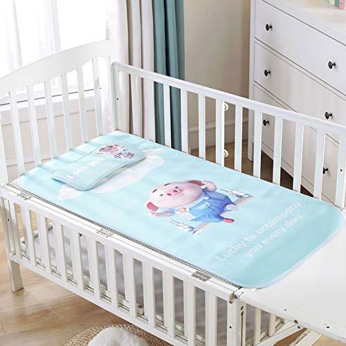 JYY Baby Sommer kühlen Matte Baby Bett Pad mit Kissen Set atmungsaktiv Ice Silk Schlaf Krippe Matratze für Neugeborene