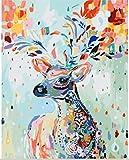 [Cader en Bois] Bricolage numérique toile peinture à l'huile de décoration par les kits-peint cerf 16*20 inch...