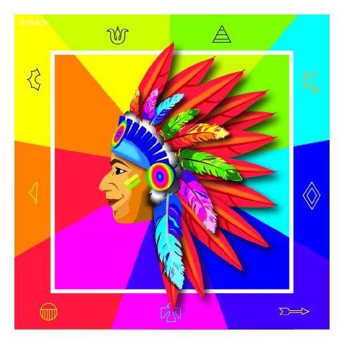 (Indianer-Party 20 Servietten  3 lg. 33x33cm)