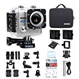 WiMiUS L1 Action Cam 4K Actioncam Wifi Action Kamera 20MP HD Action Camera 170° Weitwinkel 2 Zoll 30M Wasserdichte Sport Camera mit 2 Akkus (Silber)