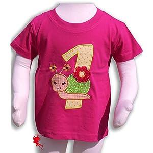 Geburtstagsshirt *Schnecke* 1.Geburtstag kurzarm Schneckenshirt