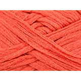 Rico Loopy Scarf Knitting Yarn Plain Orange - 150gram ball