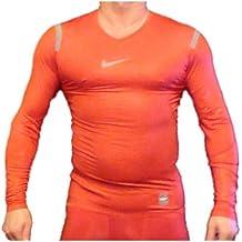 Nike Pro Combat Hypercool compresión Camiseta Interior térmica para Mujer, Rojo, ...