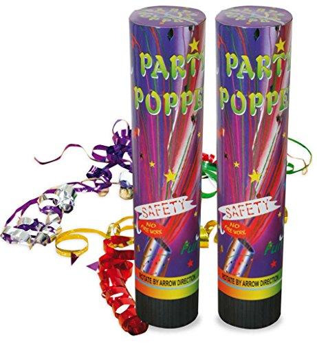 KarnevalsTeufel Silvester Popper 2er Pack Party-Popper